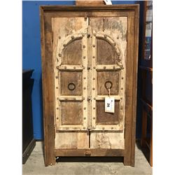 ANTIQUE DOOR FITTED RECLAIMED WOOD CABINET