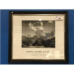 "ANSEL ADAMS AT 100 AUTHORIZED EDITION FRAMED PRINT - 32"" X 28"""
