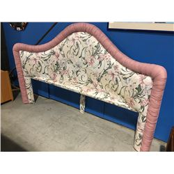 KING SIZE FLORAL UPHOLSTERED HEADBOARD