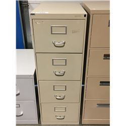 4 DRAWER METAL FILE CABINET (OFF WHITE)