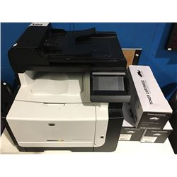 HP LASERJET PRO CM1415FNW COLOR MFP PRINTER WITH 3 NEW TONER CARTRIDGES