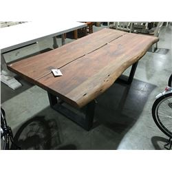 """SOLID FINE FINISH 2.5"""" THICK ACACIA DINING TABLE - 30"""" HIGH X 79"""" LONG X 39""""WIDE"""