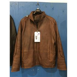 BRITCHES BROWN LEATHER JACKET (SIZE L)