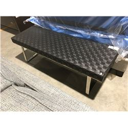 BLACK & CHROME BENCH SEAT