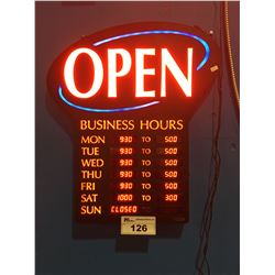 NEWON LIGHTED OPEN SIGN