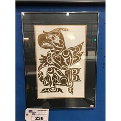 """FRAMED BC FIRST NATIONS PRINT BY ARTIST BRAD ASSU LIMITED-EDITION # 302 OF 400  - 17"""" X 22"""""""