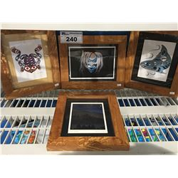 GROUP OF FRAMED FIRST NATIONS PRINTS BY JOE WILSON & ROY VICKERS