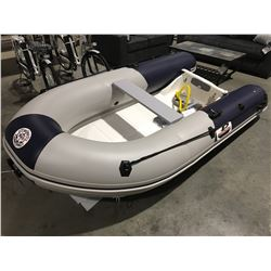 10' GREAT PACIFIC INFLATABLE BOAT WITH FIBERGLASS HARD-BOTTOM COMPLETE WITH ACCESSORIES PACKAGE