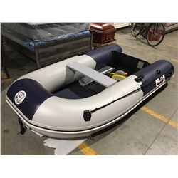 9' GREAT PACIFIC INFLATABLE BOAT WITH FIBERGLASS HARD-BOTTOM COMPLETE WITH ACCESSORIES PACKAGE