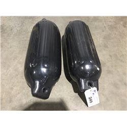 SET OF 2 MARINE BOAT BUMPERS (BLACK)