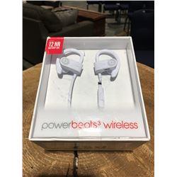 1 PAIR POWER BEATS 3 WIRELESS EARPHONES (WHITE)