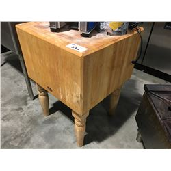 WOOD WELDED BALLYBLOCK MICHIGAN MAPLE BUTCHER BLOCK TABLE