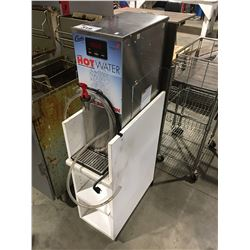 CURTIS COMMERCIAL HOT WATER DISPENSER WITH WHITE SHELF UNIT STAND