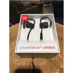 1 PAIR POWER BEATS 3 WIRELESS EARPHONES (BLACK)