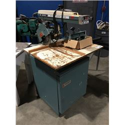 DEWALT DELUXE POWER SHOP RADIAL ARM SAW WITH ATTACHMENTS & CABINET