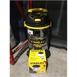 STANLEY WET/DRY VAC WITH NEW FILTER - (MISSING HOSE LINE)