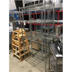 6' X 3' X 1.5' METAL 5-TIER SHELVING RACK