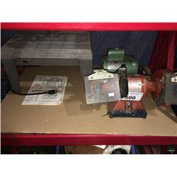 BELDOR BENCH GRINDER, DOERR ELECTRIC MOTOR & ROUTER TABLE