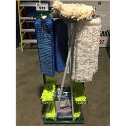 METAL DISPLAY RACK FILLED WITH ASSTD CLEANING TOWELS