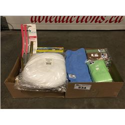 2 BOXES OF ASSTD CLEANING TOWELS & ACCESSORIES