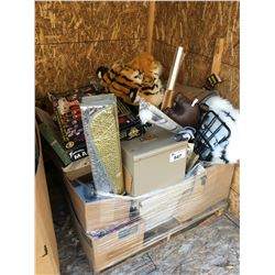 PALLET OF ASSTD MISC. ITEMS - TOYS, HOUSEHOLD ITEMS ECT.