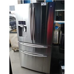 SAMSUNG STAINLESS STEEL FRENCH DOOR FRIDGE WITH DUAL BOTTOM FREEZER AND WATER + ICE