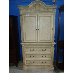 CREAM WOOD WARDROBE