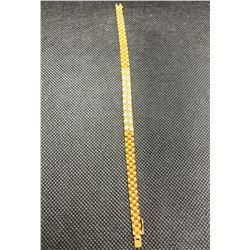 18K YG DIAMOND SET BRACELET  RV 7100.00
