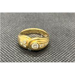 18K YG DIAMOND SET RING RV 2400.00