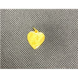 22-24K YG HEART SHAPED PENDANT RV 380.00