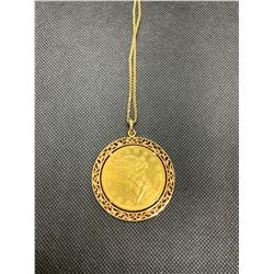 "10K  28"" CHAIN WITH GOLD COIN PENDANT R.V. 2950.00"