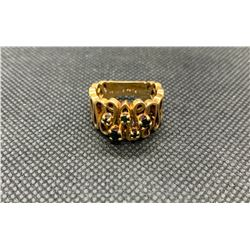 14K LADIES RING WITH GREEN STONES RV 595.00