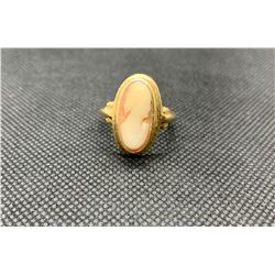 10K LADIES RING WITH CAMEO RV 375.00
