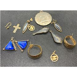 MISC GOLD AND SILVER JEWELRY