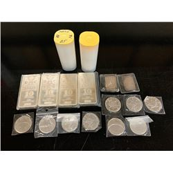 101 OUNCES SILVER COINS AND BARS