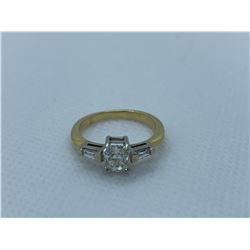 LADIES 14K WHITE AND YELLOW GOLD RING WITH 3 DIAMONDS RV $10,120.00