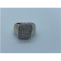 LADIES 18K WHITE GOLD RING WITH 46 DIAMONDS RV $6,370.00