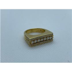 LADIES 14K YELLOW GOLD RING WITH 79 DIAMONDS RV $5,670.00