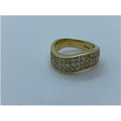 LADIES 14K YELLOW GOLD RING WITH 45 DIAMONDS RV $4,890.00
