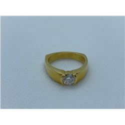 LADIES 18K YELLOW GOLD RING WITH 1 DIAMOND RV $4,810.00