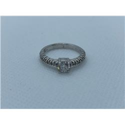 LADIES 18K WHITE GOLD RING WITH 13 DIAMONDS RV $4,280.00