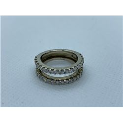 LADIES 14K WHITE GOLD RING WITH 38 DIAMONDS RV $4,130.00