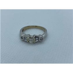 LADIES 14K WHITE GOLD RING WITH 7 DIAMONDS RV $3,990.00