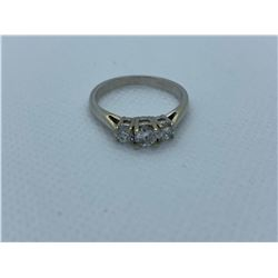 LADIES 18K WHITE GOLD RING WITH 3 DIAMONDS RV $3,980.00