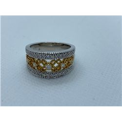 LADIES 14K WHITE AND YELLOW GOLD RING WITH 31 DIAMONDS RV $3,710.00