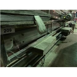 "6'7"" LONG 8"" WIDE STAINLESS STEEL / PLASTIC POWERED CONVEYOR SYSTEM"