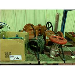 PALLET OF ASSORTED COMMERCIAL PLUMBING, VALVES & SHUT-OFFS