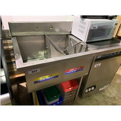 "DUAL SINK 58"" X 30"" STAINLESS STEEL COMMERCIAL DISHWASHER STATION WITH SPRAYER / FAUCET"