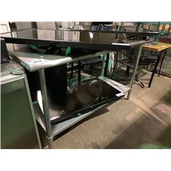 "30"" X 60"" STAINLESS STEEL PREPARATION TABLE"