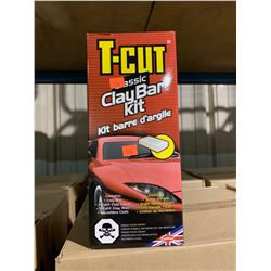 2 BOXES OF 6 X T-CUT CLASSIC AUTOMOTIVE CLAY BAR KITS ( 12 KITS TOTAL )